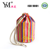 2014 hot sale colorful striped promotional cosmetic bag