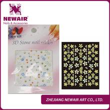Newair adhesive 3d nail stickers