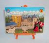 Polyresin PAU souvenir tourist plate, resin castle souvenir tourist plaque