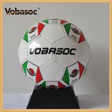 Shiny PVC Machine Stitched Soccer Ball / Machine Sewn Soccer Ball