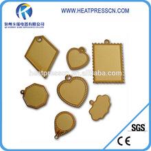 Fashion Sublimation 18k golden pendent