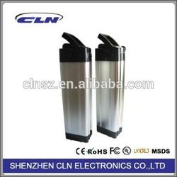 24v 13ah rechargeable ebike battery water bottle type black/aluminal color