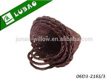 beautiful Handmade plastic lined gardening wicker hanging flower basket willow basket