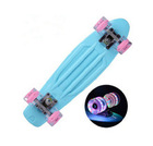 Hot selling penny style skateboard with led wheel,deck for longboard