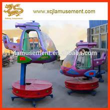high quality and cheap 2arms fiberglass rotation rides amusement big eyes plane