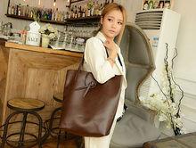 2014 newest fashion double bag bucket bag soft pu bag