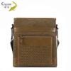 Top grade china supplier cowhide handbag genuine messenger men leather travel bag belt