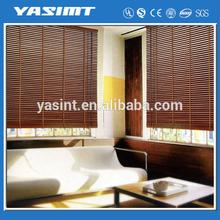 Mould resistant wood venetian blinds sliding glass door for living room