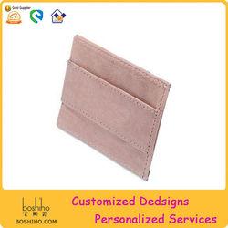 Money Clip Genuine Leather Super Thin Slim Cash Strap Wallet