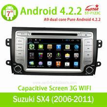 Car Radio player For Suzuki SX4 Android 4.2+3G+Wifi+DVD+Radio+BT phonebook......