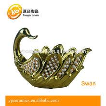 swan ceramic plant stand