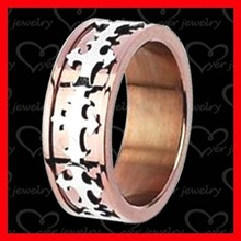 316l stainless steel ring rose gold