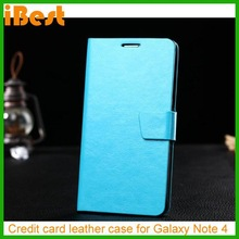 iBest PU Phone Wallet Leather Flip Case for Samsung Galaxy Note 4,phone mobile case for samsung galaxy note 4