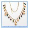 Chinese jewelry wholesale hot sale fashion crystal gemstone tassel necklace pendant noble necklace