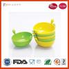 food grade silicone cute pet dog bowl