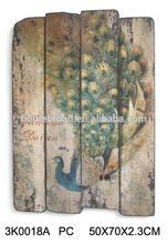 2014 Canton fair New Design Items Antique Wooden Wall Arts