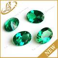 venta al por mayor sueltos en forma de óvalo verde nano cristal de piedra