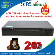 Manufacturer 4CH Full D1 CCTV Surveillance H264 Network Dvr Software