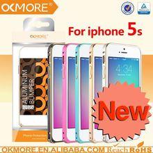 Phone accessory 6063 aluminum 0.7mm bumper case cover for iphone 5 / 5s
