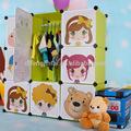plástico do brinquedo crianças armário de armazenamento