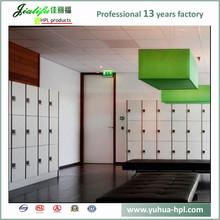 JIALIFU electronic lock 4 door colorful compartment steel locker 12mm hpl panel