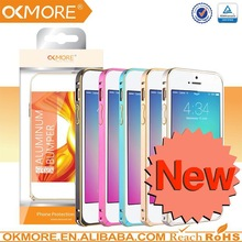 Mobile phone part two-tone round edge case cover skin metal bumper case for iphone 6