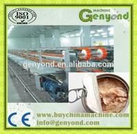 Tuna fish processing machine / fish in oil production line