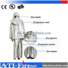 Fire escape aluminized protection suit