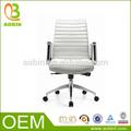 Novo design moderno, com braço de alumínio metal couro cadeira de escritório