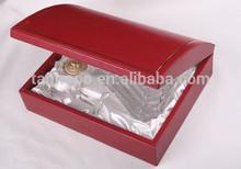 wholesale pu leather Handmade Vintage wine carrier 2014 new Luxury wooden wine box