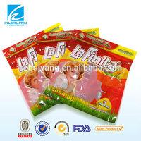 Biodegradable resealable plastic food packaging