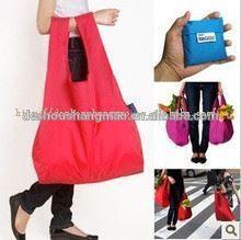 ECO-firendly shopping folding fashion lady nylon flower handbag shoulder bag purse shopping tote