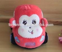 Girl best gift car shaped plush soft pink monkey toys