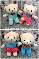 Colorful dressing stuffed 18cm soft teddy bear plush