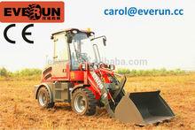 Everun neu designed ER08 Frond End Loader mini farm Radlader/Hoflader mit CE/Euro 3