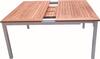 outdoor furniture teak extension table