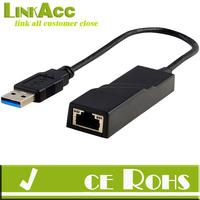 linkacc js-147 USB 3.0 to Gigabit Ethernet Network Adapter 1000Mbps PC Laptop Ultrabook Desktop