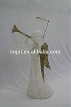angel christmas decoration/metal frame christmas angel/christmas gift