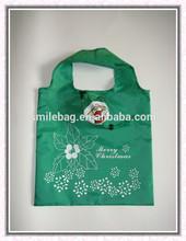 RPET nylon christmas man foldable shopping bag