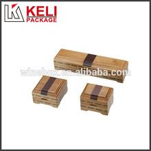 Customized wooden jewelry box set