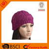 Ladies' 2015 fashion 100% Acrylic Free Pattern Sports Warm Winter Custom Knitted Hats With Multi Colors