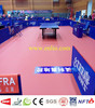 PVC ping pong floor mat and badminton floor mat with ITTF