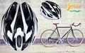 Casco de bicicleta, bicicletas y bicicletas de montaña, almohadilla de impresión para cascos