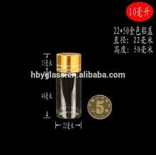 Small tube of aluminum bottles for distribution of the Golden lid