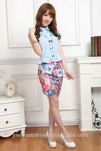2014 lady skirt Factory Wholesale girl skirt wave tight Mini Skirt