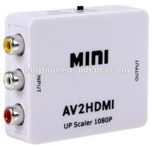 Mini AV CVBS RCA to HDMI Up Scaler 1080P Video Converter Adapter HD TV STB XBOX