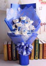 2014 Most popular Hotsale Christmas gift single bear flower many color