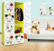 Cartoon design Diy Shape Wardrobe for Children Bedroom
