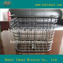 radian angle steel bike basket/sturdy steel bicycle basket