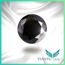 Fashion Jewelry Loose Semi Precious Beads Black Cubic Zirconia